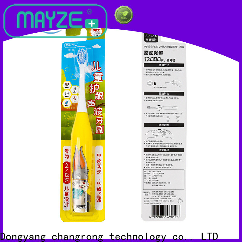 MAYZE battery operated electric toothbrush machine tooth